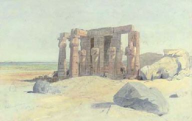 Edward Lear, The Ramesseum (Thebes), 1854