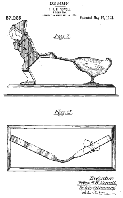 Peter Newell, Figure Toy patent, 1920