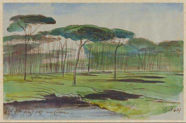 Near Cervia, 7 May 1867. Houghton Library MS Typ 55.26 NI.L10