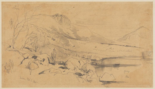 Edward Lear, Norba, 2 February 1840. Houghton Library, Harvard College Library.