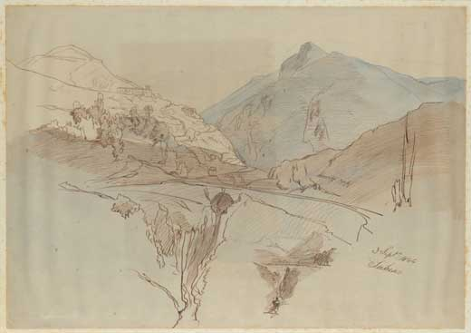 Edward Lear, Subiaco, 3 September 1844.