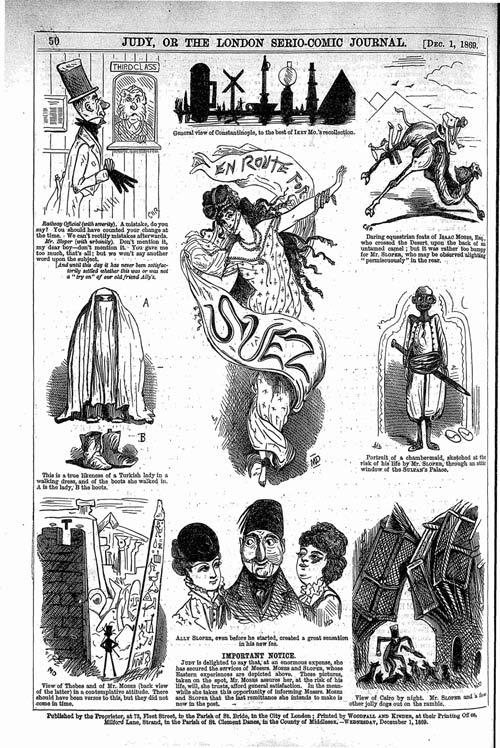 An Ally Sloper page in which Marie Duval and CH Ross collaborated. Judy, 1 December 1869. 50