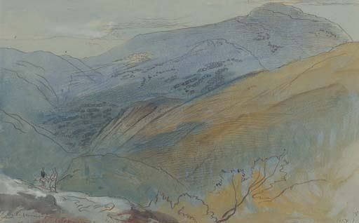 Edward Lear, Palaiukhora, Crete. 29 April 1864. Christie's.