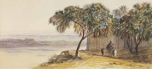Edward Lear, Denderah on the Nile (1863)