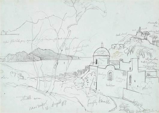 Edward Lear, Near Massa, 1838