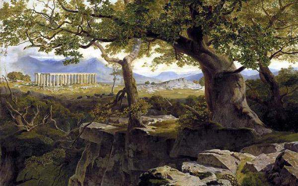 Edward Lear, The Temple of Apollo at Bassae (1854)