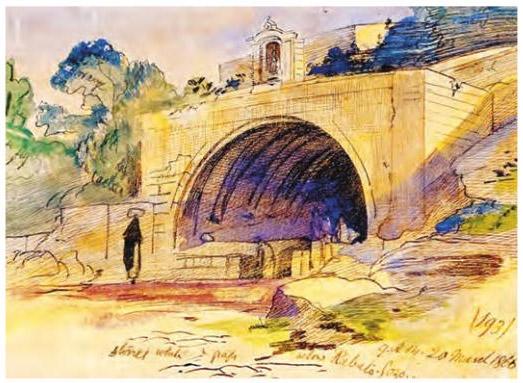 Edward Lear, Below Rabato, Gozo. 20 March 1866, 9.00am n. 193