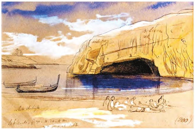 Edward Lear, Scklendi, Gozo. 20 March 1866, 11.30 am n. 200.