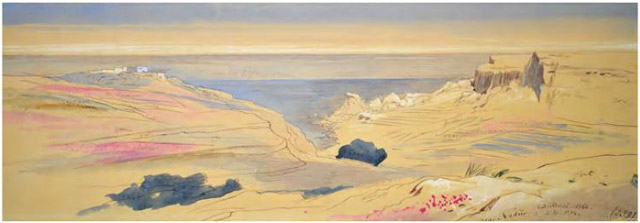 Edward Lear, Near Nadu, Gozo. 23 March 1866, 2.30 pm n. 233.